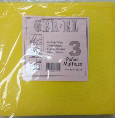 GER-EL pano multiuso cocina amarillo x3u.