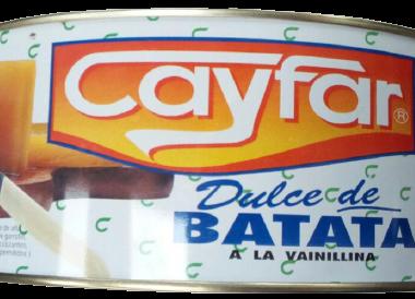 CAYFAR dulce batata lata x5kg.
