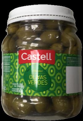CASTELL aceitunas verdes 0 x850g