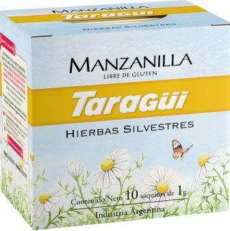 TARAGUI te manzanilla x10 saquitos