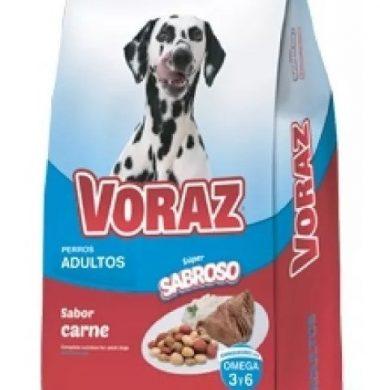 VORAZ alimento perro adulto carne x10kg.