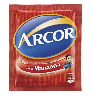 ARCOR jugo manzana x18sob.