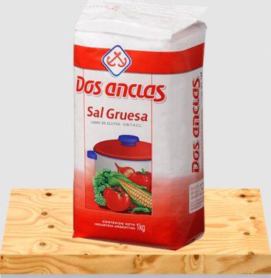 DOS ANCLAS sal gruesa paquete x1kg