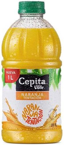cepita naranja botella