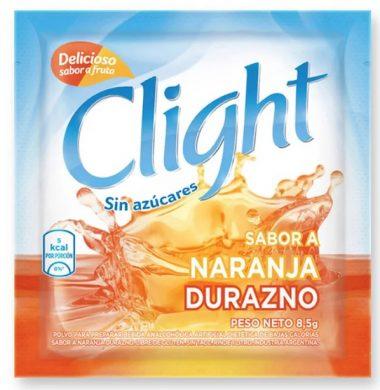 CLIGHT jugo naranja /durazno . x20sob.