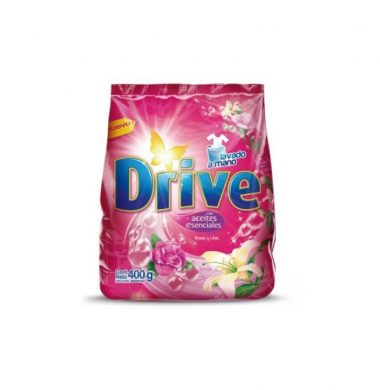 DRIVE regular  jabon polvo rosa/lila x400g
