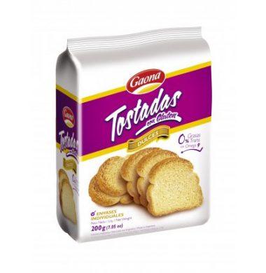 GAONA tost. c/gluten dulce x200g