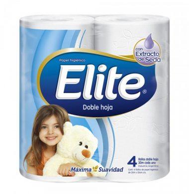 ELITE papel higienico doble hoja  20m x4Un.