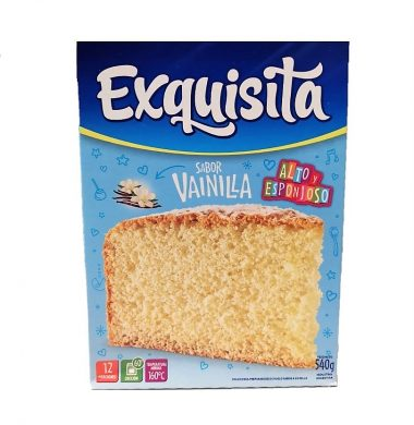 EXQUISITA bizcochuelo  vainilla x540g