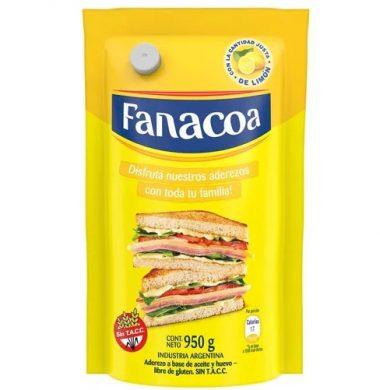 FANACOA mayonesa doypack x950g