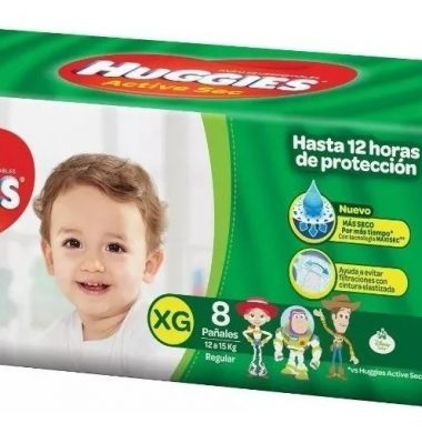 HUGGIES panal verde XG x8Uni