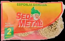 SED METAL esponja dorada x2Un.