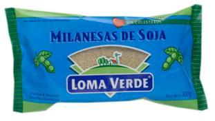 LOMA VERDE milanesa de soja x4Un.