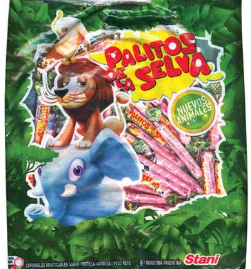 STANI caramelos palitos de la selva x600g