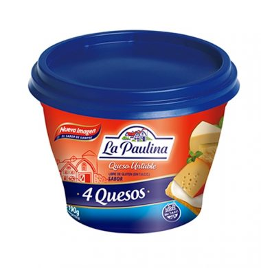PAULINA queso untable 4 quesos x190g