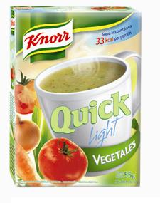 KNORR QUICK sopa light vegetales