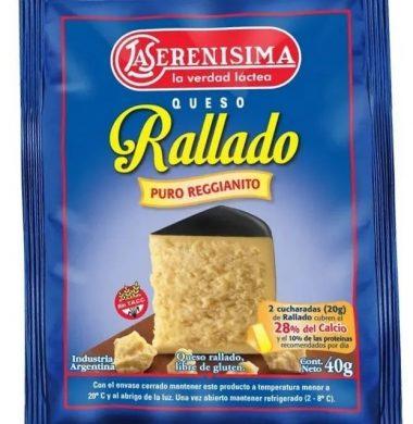 SERENISIMA queso rallado 10x40g.