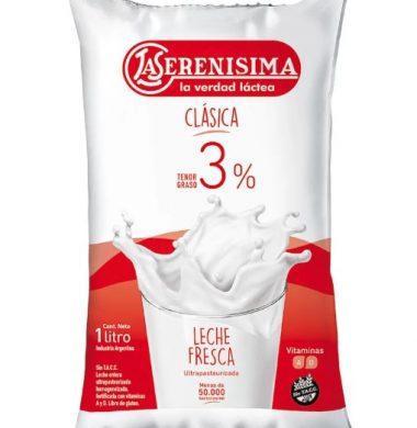 SERENISIMA leche entera sachet x 1lt