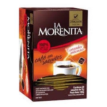 MORENITA cafe intenso x 20 saquitos