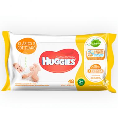 HUGGIES toallas humedas clasica x48u.