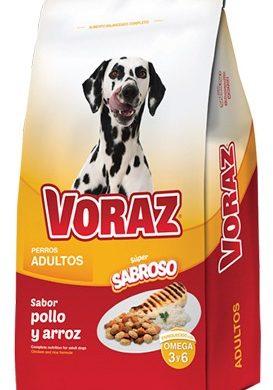 VORAZ alimento perro adulto pollo y arroz x10kg.