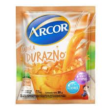 ARCOR jugo durazno x18sob.