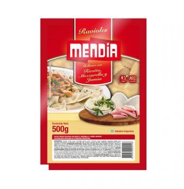 MENDIA ravioles muzzarella / jamon/ ricotta x500g.