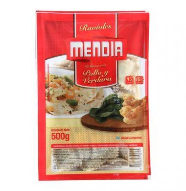 MENDIA ravioles pollo verdura x500g
