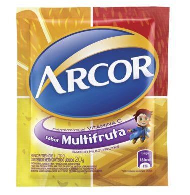 ARCOR jugo multifruta x18sob.