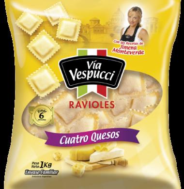 VIA VESPUCCI ravioles 4 quesos x1kg bolsa