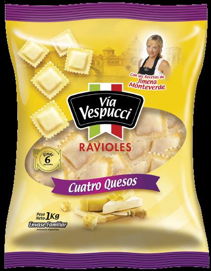 via vespucci ravioles 4 quesos x1kg