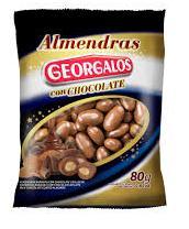 GEORGALOS almendras c/choc. x80g