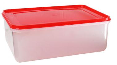LA PORTENA hermetico rectangular x4Lt