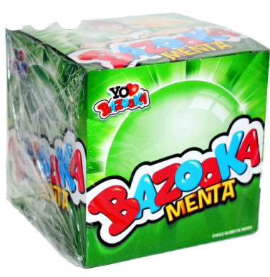 BAZOOKA chicle menta x120u
