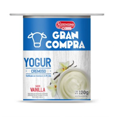 GRAN COMPRA yogur cremix vainilla x120g