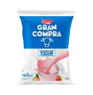 GRAN COMPRA yogur frutilla sachet x900cc