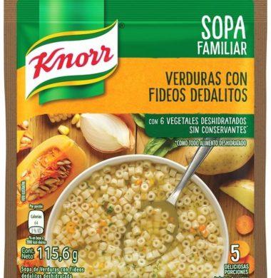 KNORR sopa casera verdura / dedalitos