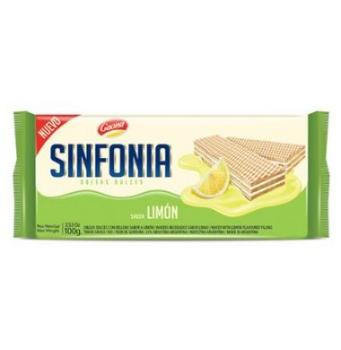 GAONA galletita sinfonia limon x100g