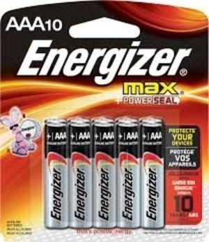 ENERGIZER pilas AAA x10u