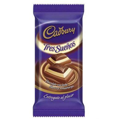 CADBURY chocolate tres suenos x80g