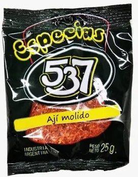 537 condimento aji molido 5u x25g