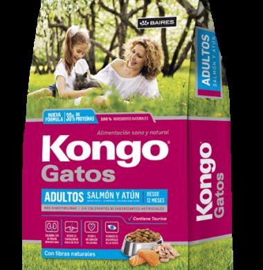 KONGO alimento gato gourmet adulto salmon y atun x1kg.