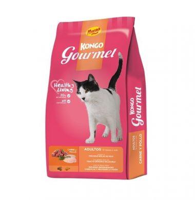 KONGO alimento gato gourmet adulto carne pollo x8kg.