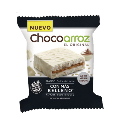 CHOCOARROZ alfajor arroz blanco x28g