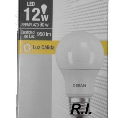OSRAM lampara led value luz calida 12w.