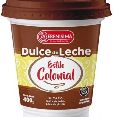 SERENISIMA dulce de leche colonial x400g