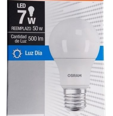 OSRAM lampara led value luz fria 7w.