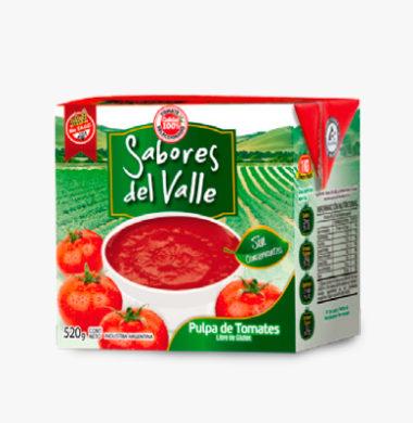 SABORES DEL VALLE pulpa tomate  x520g
