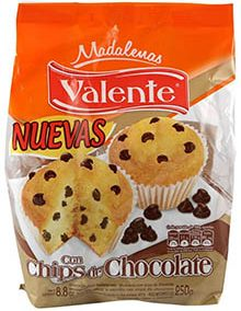 VALENTE madalena chips chocolate x220g