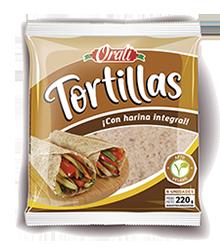 ORALI tortillas con harina integral x6u.